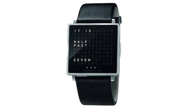 QLOCKTWO - Qlocktwo W35 - Armbanduhr - englisch - Edelstahl matt - L - 1