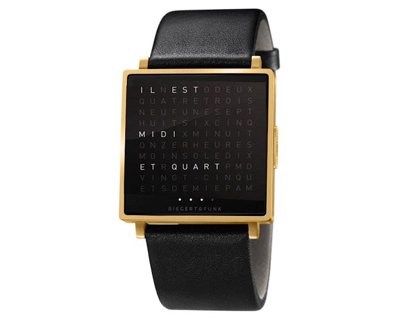 QLOCKTWO - Qlocktwo W35 - Armbanduhr - französisch - gold matt - L - 0