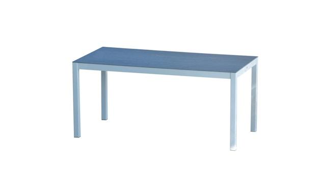Jan Kurtz - Quadrat Tisch - Keramik - Gestell weiß - 80 x 50 - anthrazit - 1