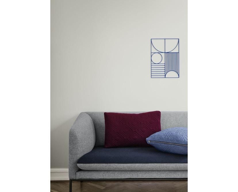 ferm LIVING - Quilt Kissen - dunkelgrau - 40 x 25 - 6
