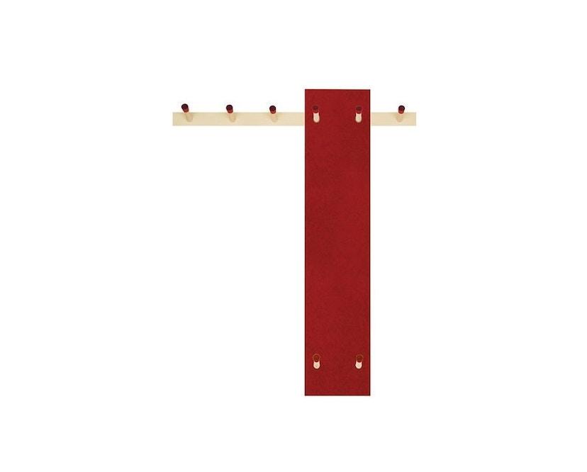 Moormann - Rechenbeispiel Kindergarderobe - rot/rot - 1