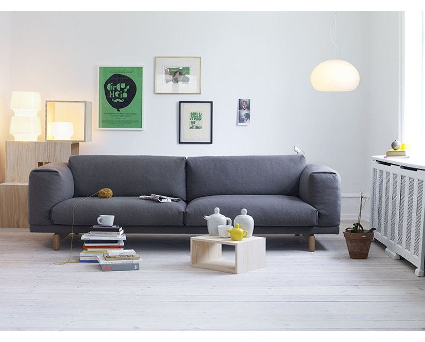 Muuto - Rest 3-zitter bank - Remix 163 - Eik - 4