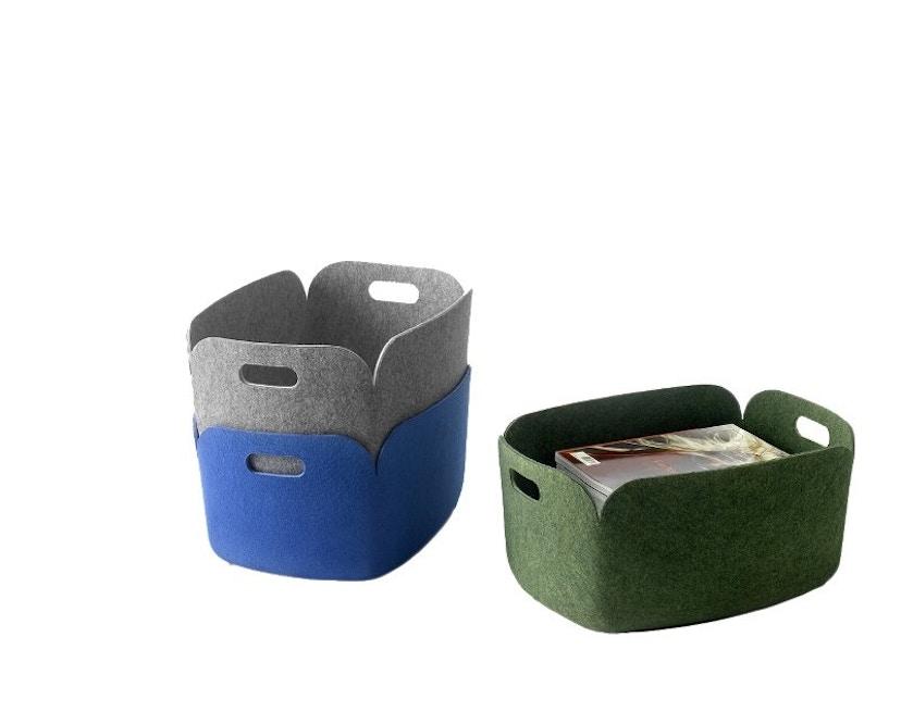 Muuto - Restore Aufbewahrungskorb eckig - grey - 4