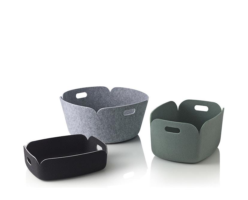 Muuto - Restore Aufbewahrungskorb rund - nebelgrün - 3