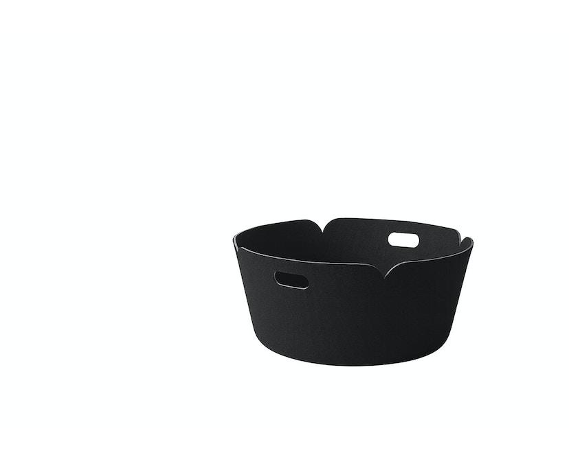 Muuto - Restore Aufbewahrungskorb rund - schwarz - 1