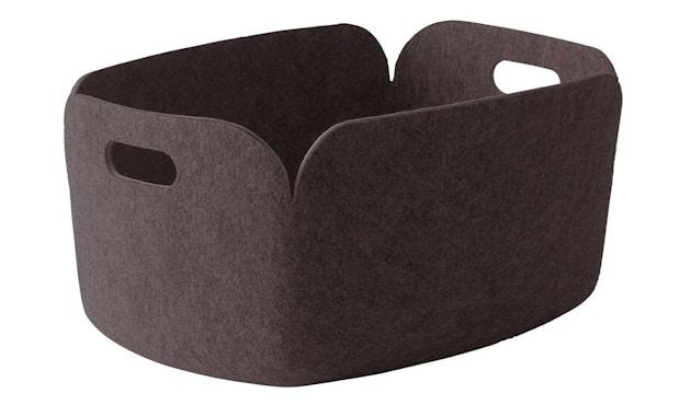 Muuto - Corbeille de rangement Restore, carrée - marron - 3