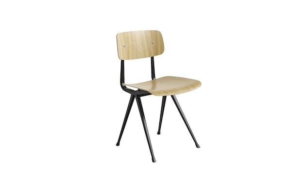 HAY - Result Stuhl - Eiche klar lackiert - Gestell schwarz mit Kunststoffgleitern - 4