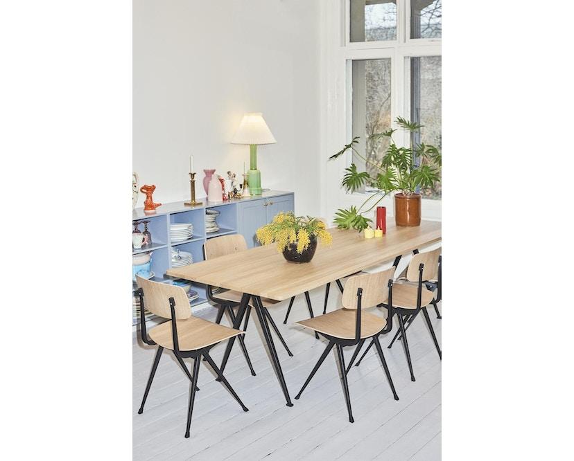 HAY - Pyramid Tisch - Eiche klar lackiert - Gestell schwarz - 190x85 cm - 7