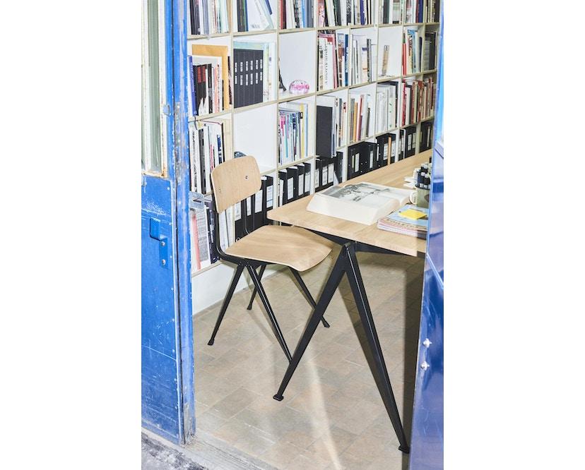 HAY - Pyramid Schreibtisch - Eiche matt lackiert - Gestell schwarz - 140 x 65 cm - 3
