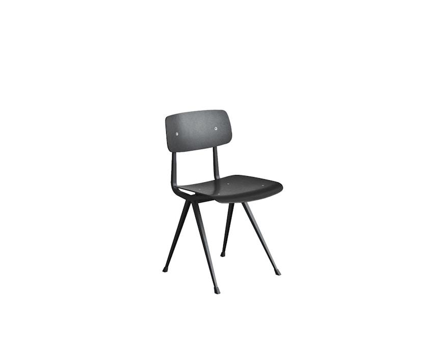 HAY - Result Stuhl - Eiche schwarz gebeizt - Gestell schwarz mit Kunststoffgleitern - 2