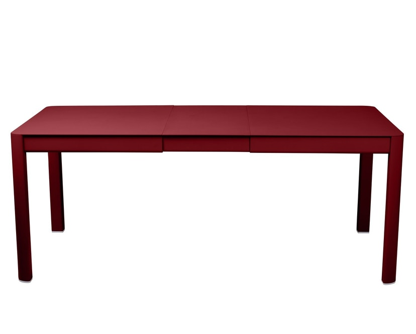 Fermob - Ribambelle Tisch mit 1 Einlegeplatte - Chili 43 - 1