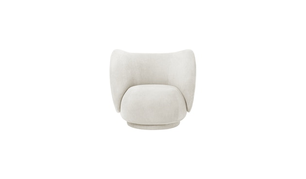 ferm LIVING - Rico Lounge Sessel - Off-White (Brushed) - 1