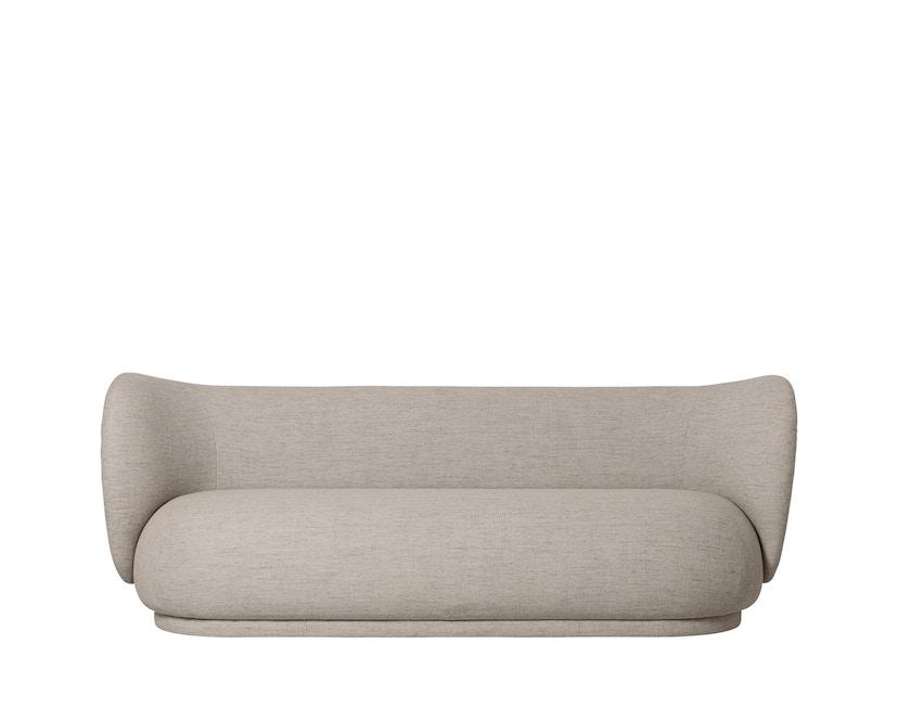 ferm LIVING - Rico Sofa - 3-Sitzer - Sand (Bouclé) - 1