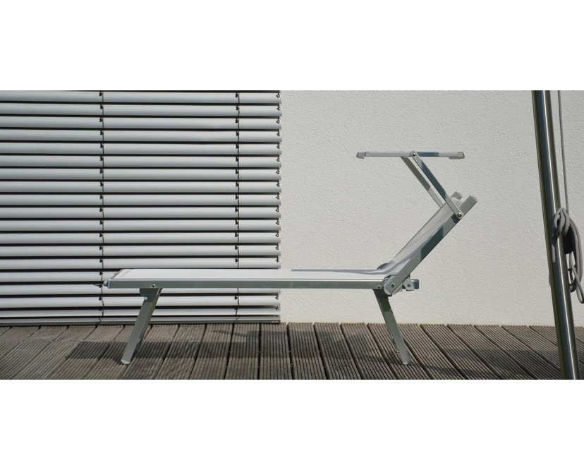 Jan Kurtz - Rimini Classic Sonnenliege - Gestell eloxiert - weiß - 5
