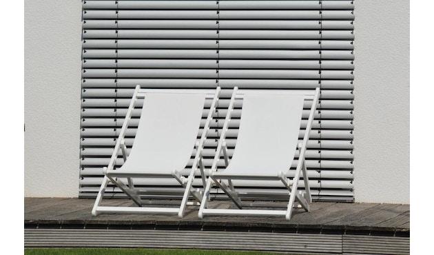 Jan Kurtz - Rimini Liegestuhl - Gestell eloxiert - weiß - 2