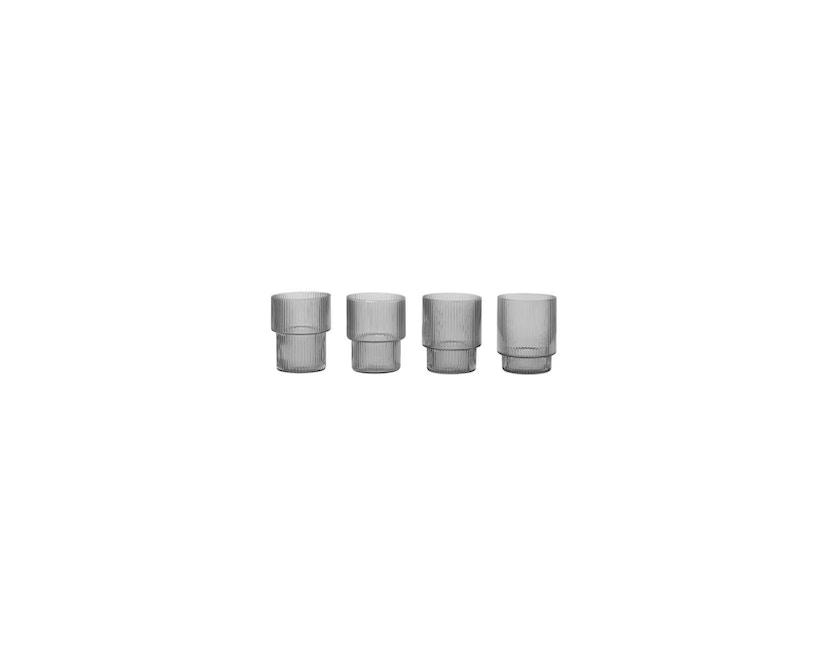 ferm LIVING - Ripple Gläser (4er-Set) - rauchgrau - 10