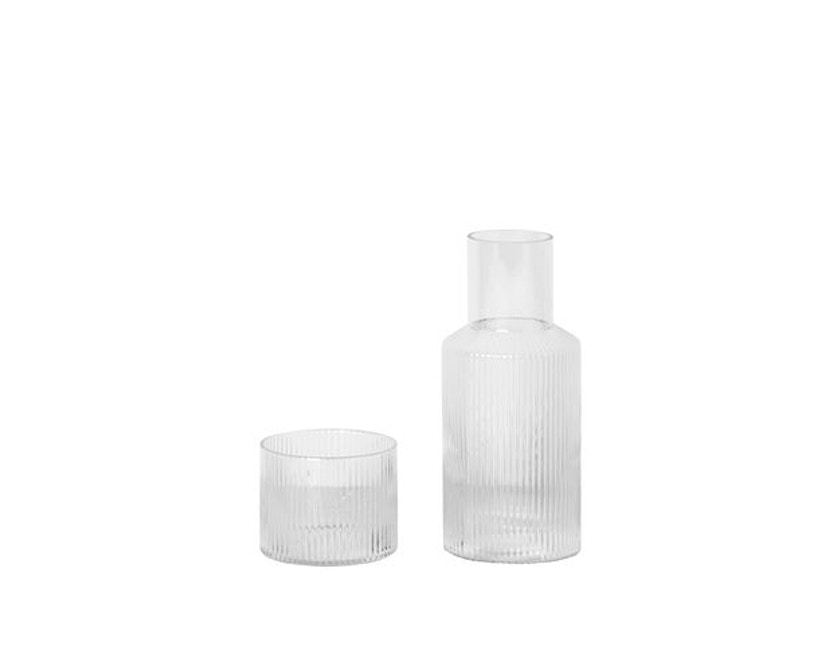 ferm LIVING - Ripple Karaffenset - transparent - 2