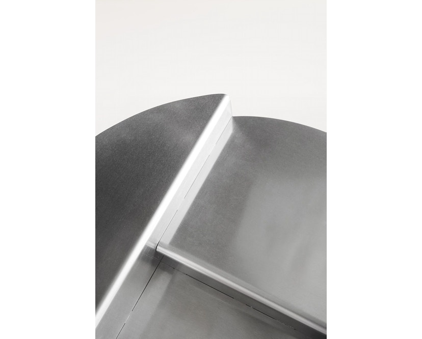 RIVET Beistelltisch - unbehandeltes Aluminium_Frama_