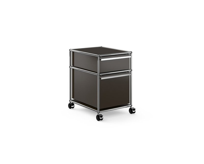 USM Haller - Rollcontainer - 2 Schubladen - braun - 0