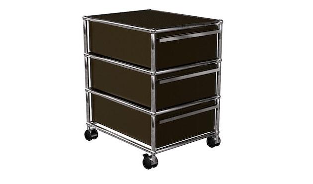 USM Haller - Rollcontainer mit 3 Schubladen - braun - 1