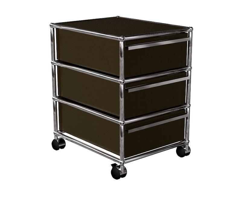 USM Haller - Rollcontainer - 3 schuifladen - 22 bruin - 1