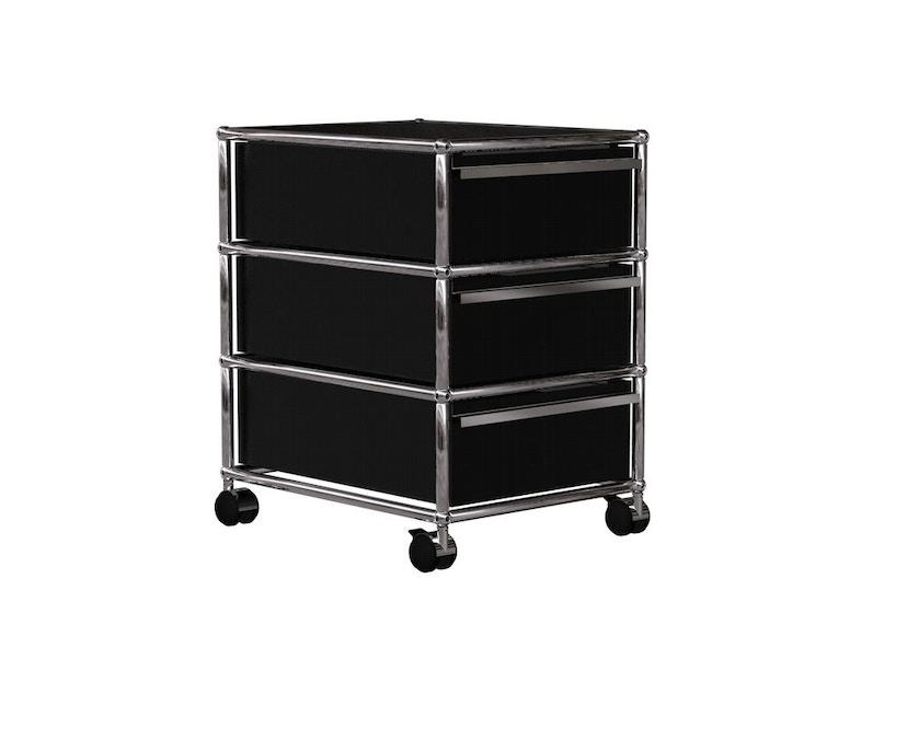 USM Haller - Conteneur roulant - 3 tiroirs - 30 noir graphite - 6