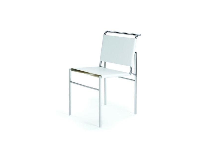 Classicon - Roquebrune Stuhl - Leder weiß - Gestell verchromt - 1
