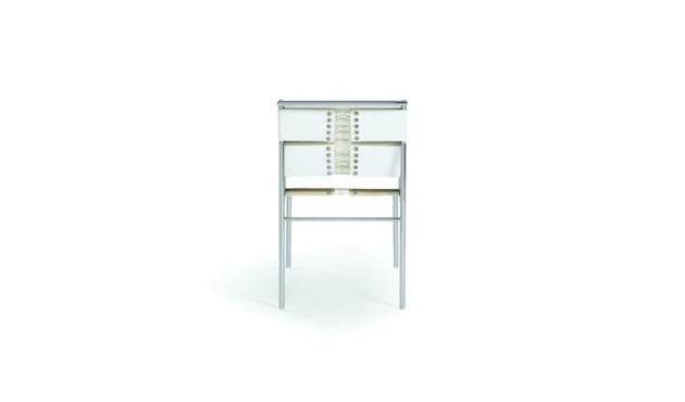 Classicon - Roquebrune Stuhl - Leder weiß - Gestell verchromt - 2
