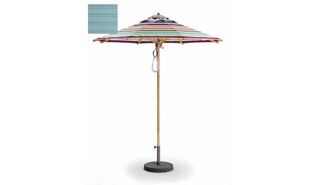 Weishäupl - Klassiker Sonnenschirm  - rund klein - Acryltuch Blue Sea Mini - 0