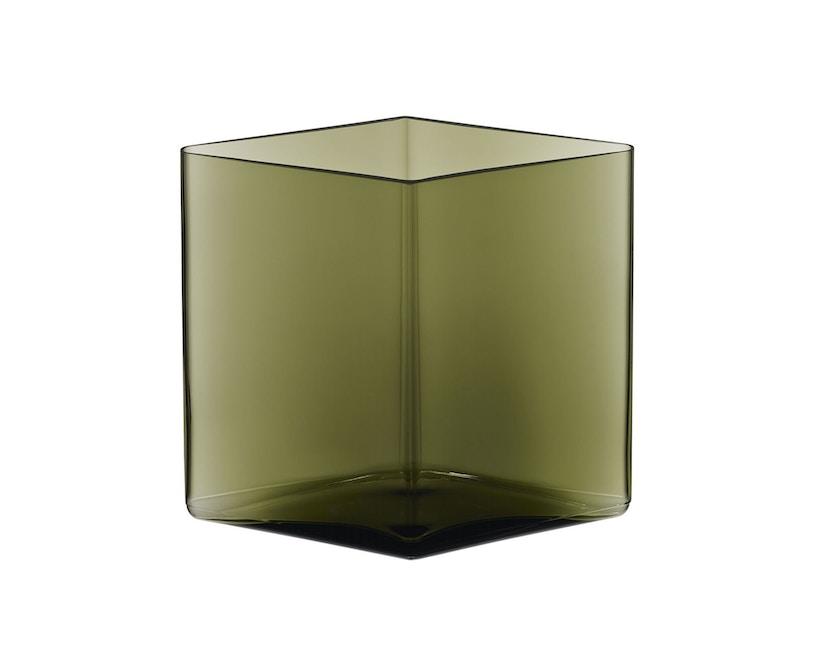 Iittala - Ruutu Vase, 20,5x18cm - moosgrün - 1