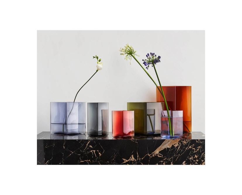 Iittala - Ruutu Vase, 20,5x18cm - moosgrün - 2