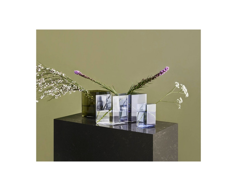 Iittala - Ruutu Vase, 20,5x18cm - moosgrün - 3