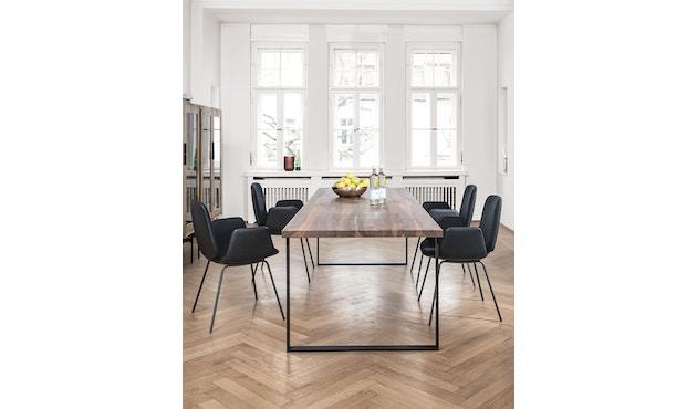 Janua - Table S 700 - Stefan Knopp - 180 cm - Chêne noirci au charbon/blanchi à la chaux - 90 cm - gris ardoise - 5