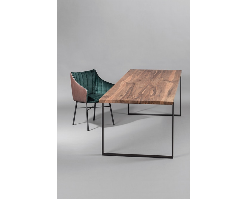 Janua - S 700 Tisch - Stefan Knopp - Eiche geköhlt/ gekalkt (Ton grau) - Gestell Tiefschwarz - 180x90 - 7
