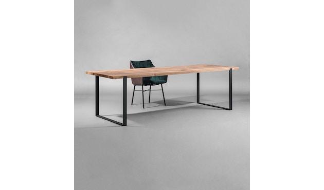 Janua - S 700 Tisch - Stefan Knopp - Eiche geköhlt/ gekalkt (Ton grau) - Gestell Tiefschwarz - 180x90 - 8