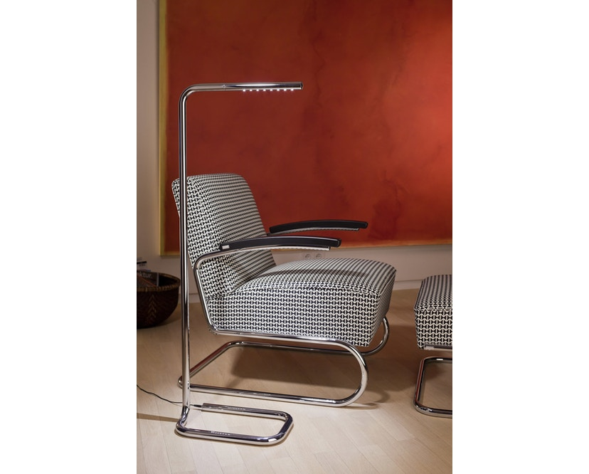 Thonet - S 411 Maharam Double Triangles - schwarz/weiß - 5