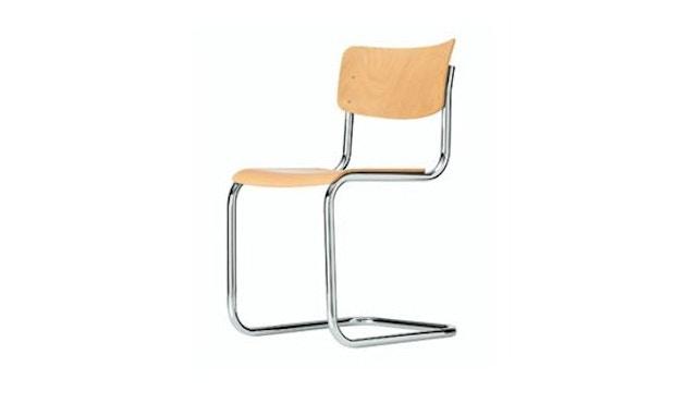 Thonet - S 43 Stuhl - naturfarben gebeizt / verchromt - 1