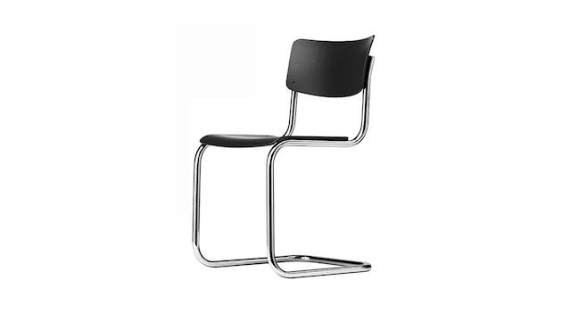 Thonet - S 43 Stuhl - nussbaumfarben gebeizt / verchromt - 0