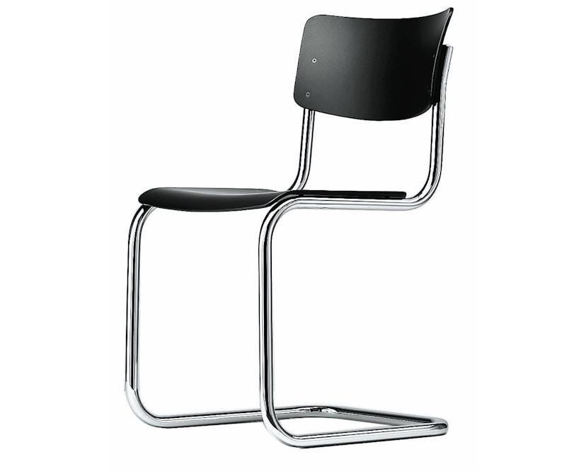 Thonet - S 43 Stuhl - schwarz gebeizt- verchromt - 1