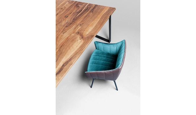 Janua - Table S 700 - Chêne nature huilé - 180 cm - 90 cm - noir époxy - 2