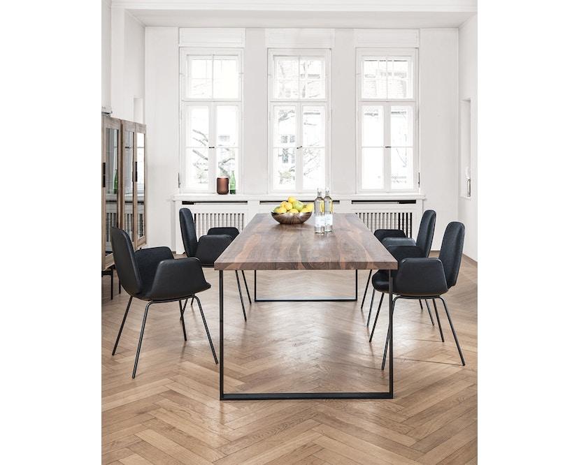 Janua - Table S 700 - Chêne nature huilé - 180 cm - 90 cm - noir époxy - 3