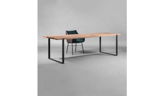 Janua - Table S 700 - Chêne nature huilé - 180 cm - 90 cm - noir époxy - 4