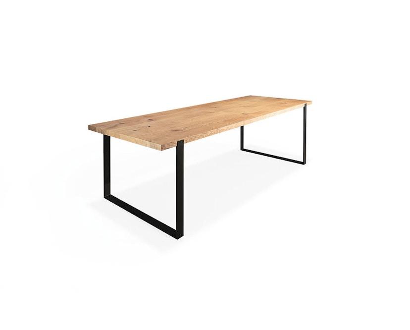 Janua - Table S 700 - Chêne nature huilé - 180 cm - 90 cm - noir époxy - 1