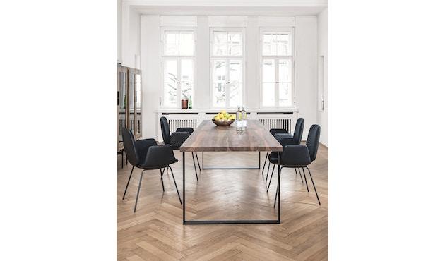 Janua - S 700 Tisch - Eiche weiß pigmentiert - Gestell Tiefschwarz - 180x90 - 4