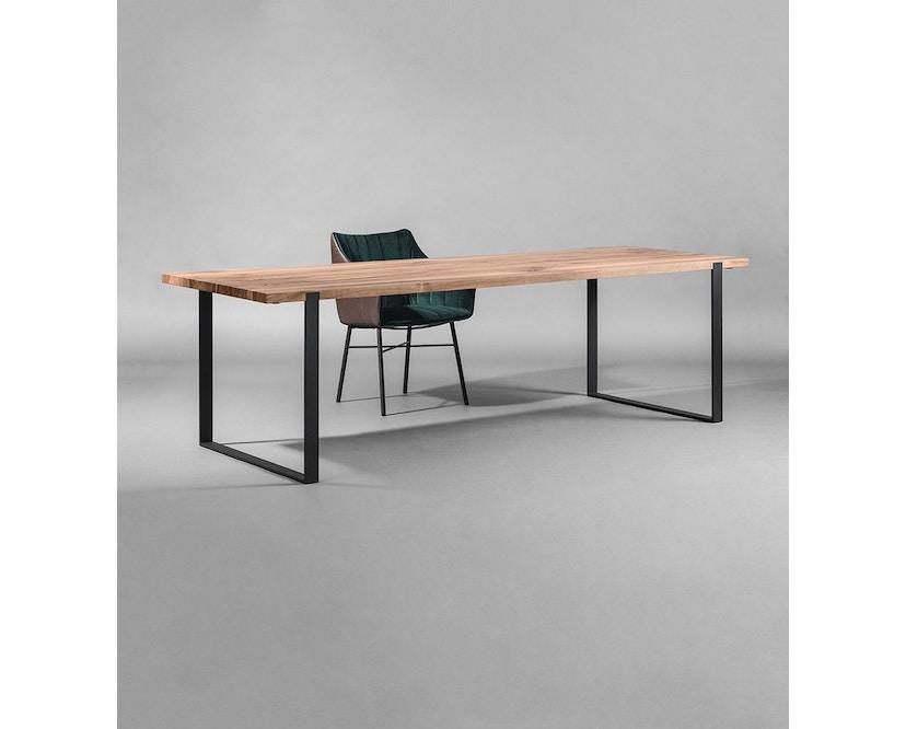 Janua - S 700 Tisch - Eiche weiß pigmentiert - Gestell Tiefschwarz - 180x90 - 5