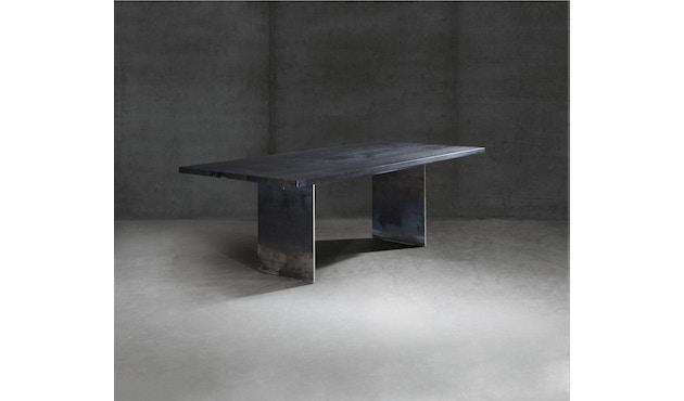 Janua - SC 41 tafel - Stefan Knopp - 180 cm - Eiken gekoold/ gekalkt - 90 cm - gepoedercoat zwart - 6