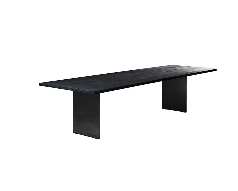 Janua - SC 41 tafel - Stefan Knopp - 180 cm - Eiken gekoold/ gekalkt - 90 cm - gepoedercoat zwart - 1