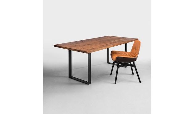 Janua - SC 58 tafel - 180 cm - Eiken natuur geolied - gepoedercoat zwart - 90 cm - 2