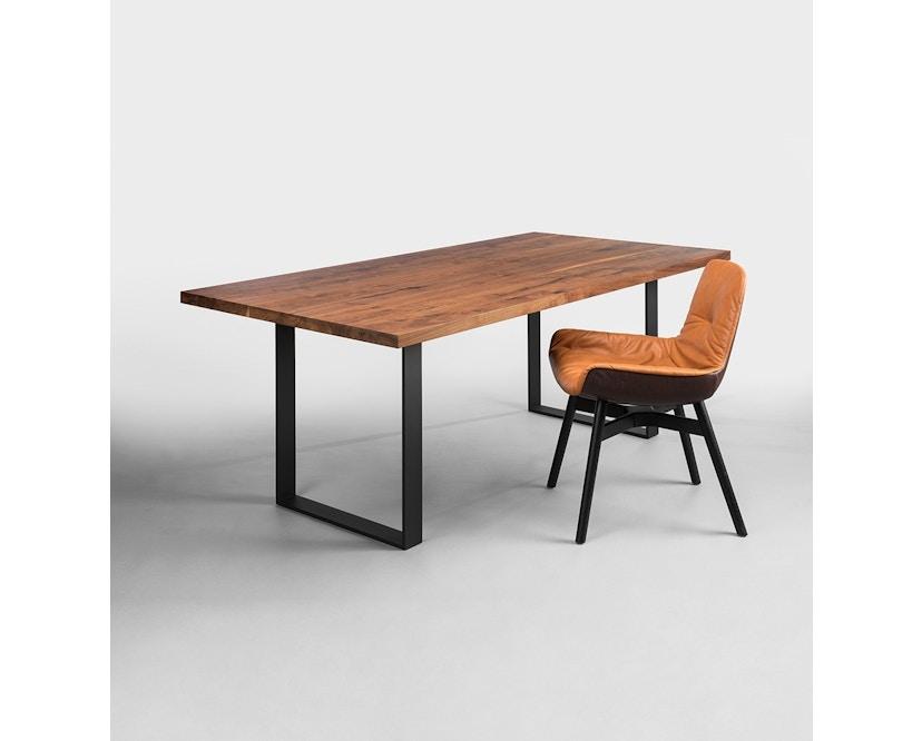 Janua - SC 58 tafel - Stefan Knopp - gepoedercoat zwart - Eiken gekoold/ gekalkt - 180 cm - 90 cm - 2