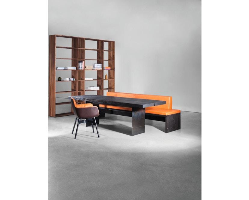 Janua - SK 01 Monolith Tisch - Eiche geköhlt/gekalkt geölt (grau) - 180 x 80 x 75 - 2